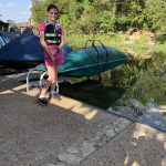 12 year old Loves her Canoe Lift and Storage Rack