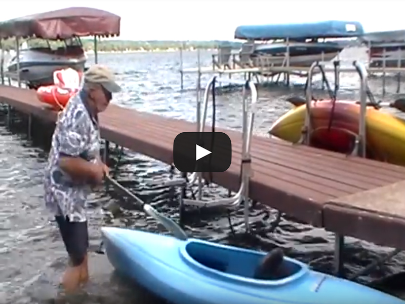 Kayak Rack for Dock – Water Entry