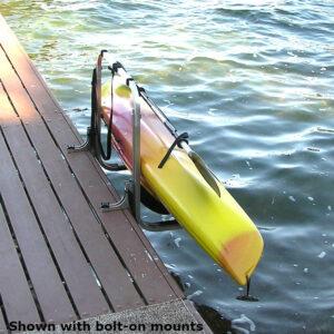 Kayak Dock Rack Shown with Bolt-On Mounts